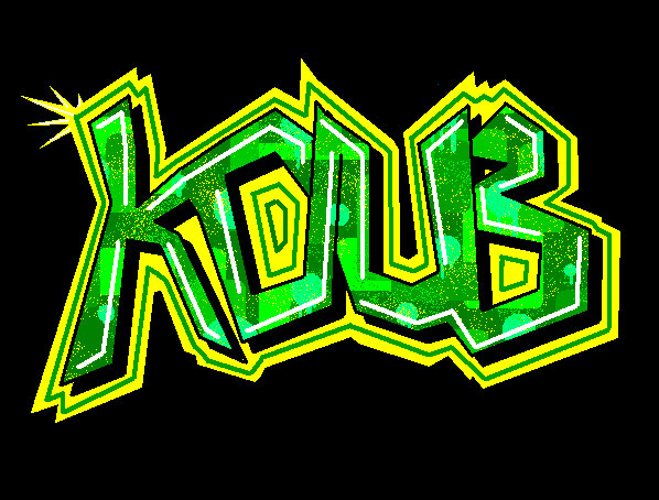denan oyi  graffiti letters shadow