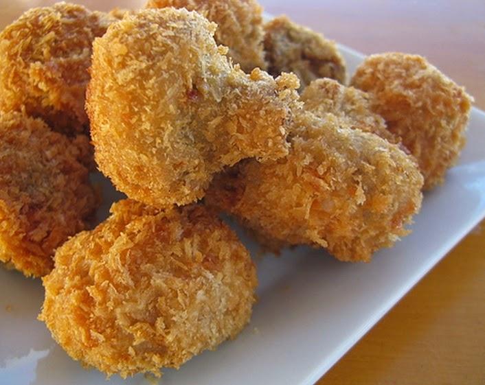 Cogumelos Fritos (vegana)