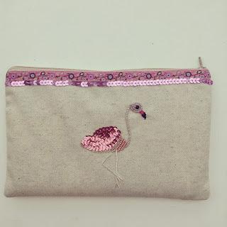 housse de tablette pochette flamant rose