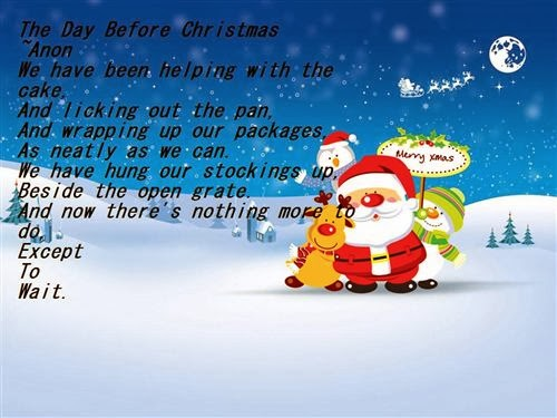 Meaning Short Christmas Poems For Children