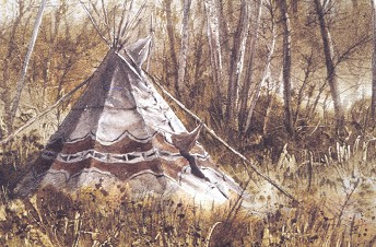 Summer Tipi - These paintings were done for a gallery in the South West