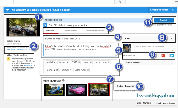 cara cepat upload video ke youtube