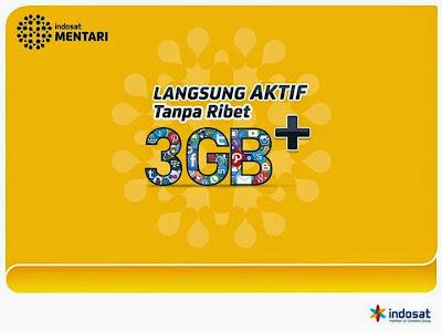 Tarif Nelpon dan SMS Perdana Paket Mentari 3GB