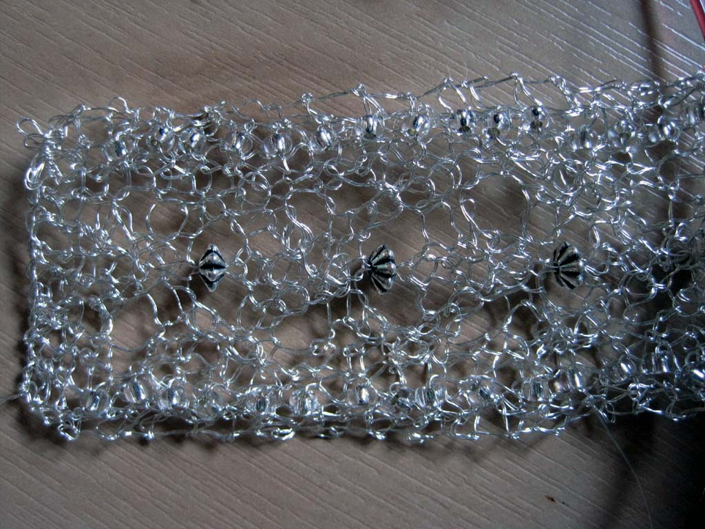 Knitting With Wire And Beads : Knitting is it ever too hot to knit