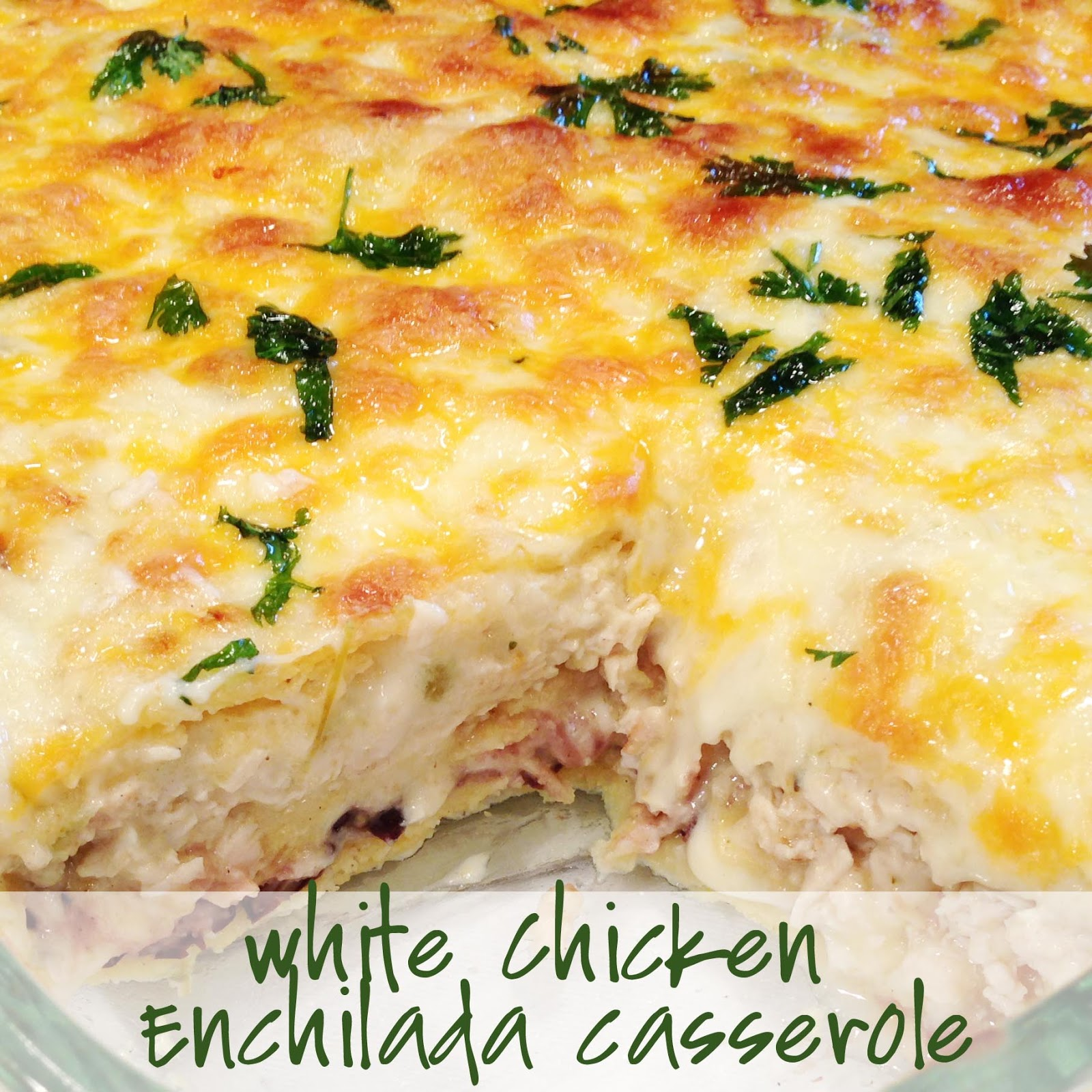 PaperDaisyKitchen: White Chicken Enchilada Casserole
