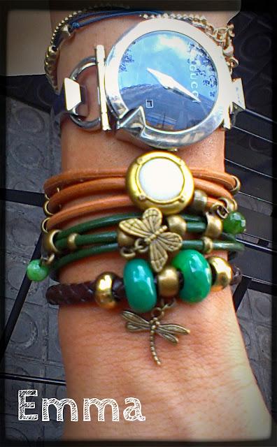 happy uky pulseras barcelona handmade verde cuero