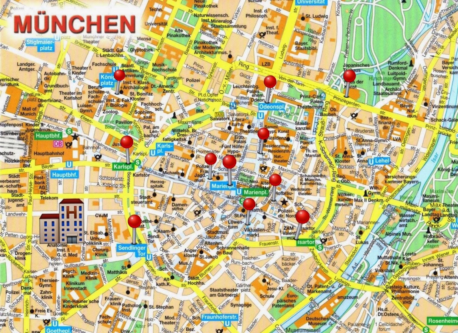 el centro de munich: