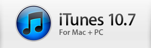 iTunes 10.7 for Mac and Windows