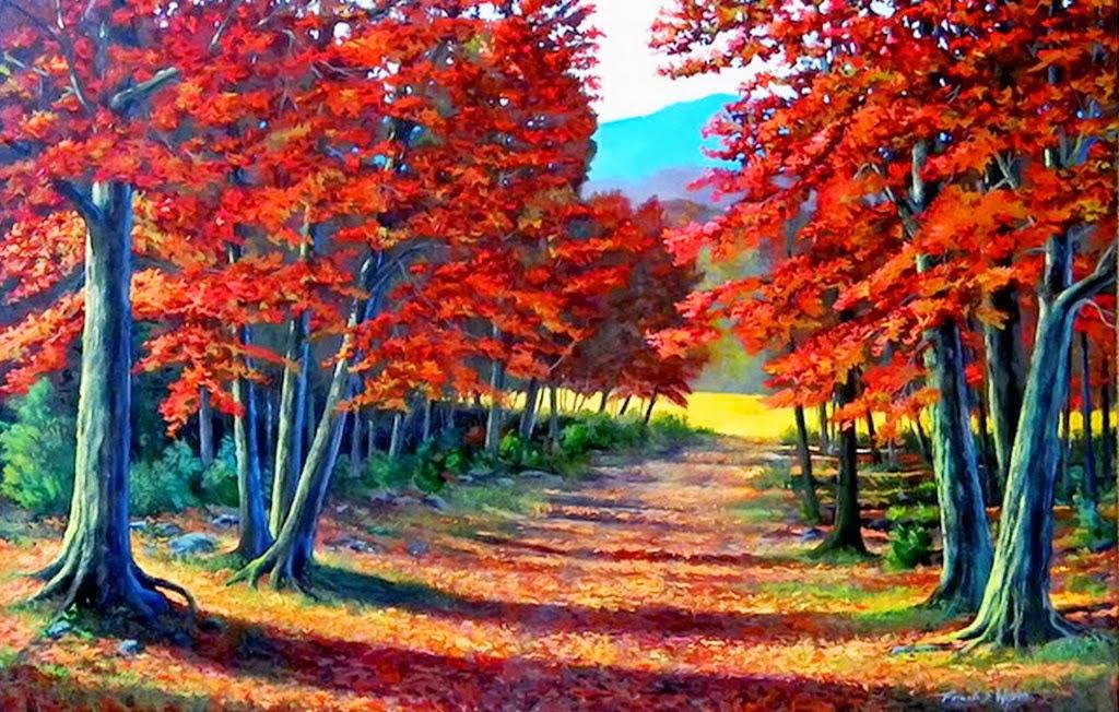 Cuadros modernos pinturas y dibujos paisajes hermosos - Cuadros modernos faciles de pintar ...