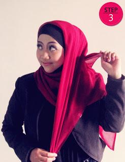 Cara Memakai Jilbab Paris Modern