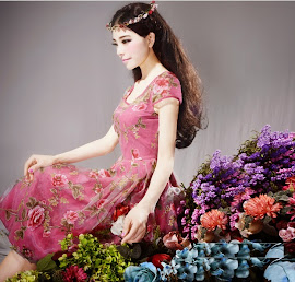 Spring 2014 New Release: Short Sleeve Vintage Rose Double Layer Lace Midi Dress