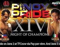 Pinoy Pride 14: Milan Melindo vs Jesus Geles  June 3, 2012 Index