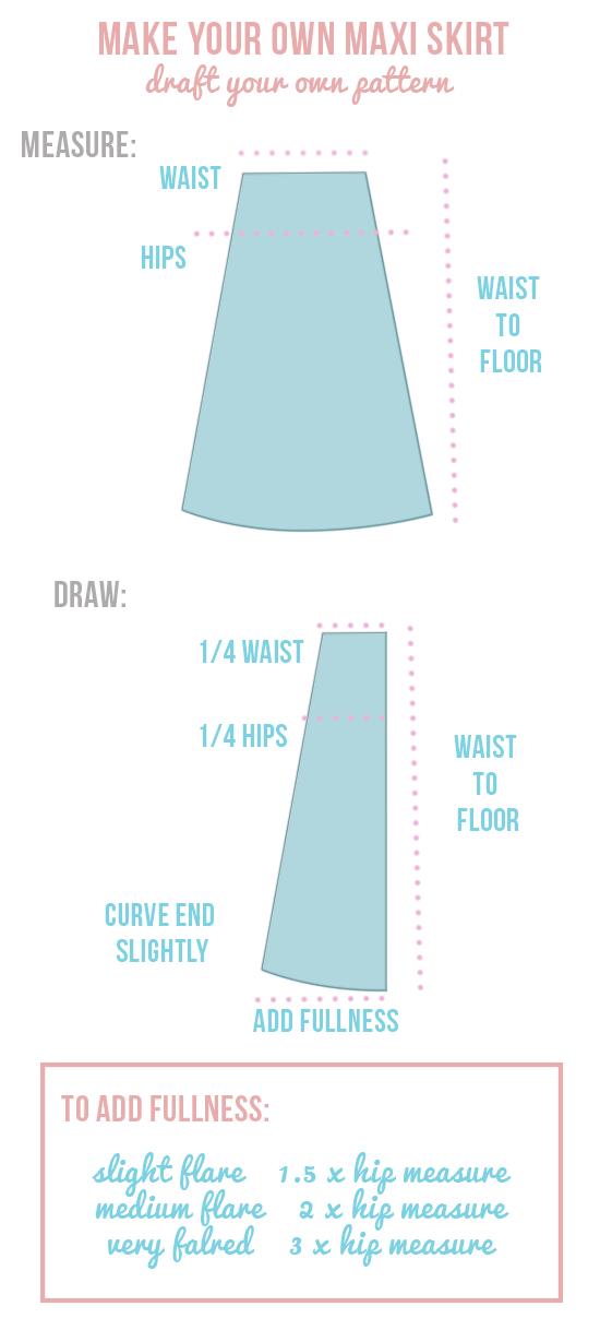 diy easy maxi skirt diy tutorials