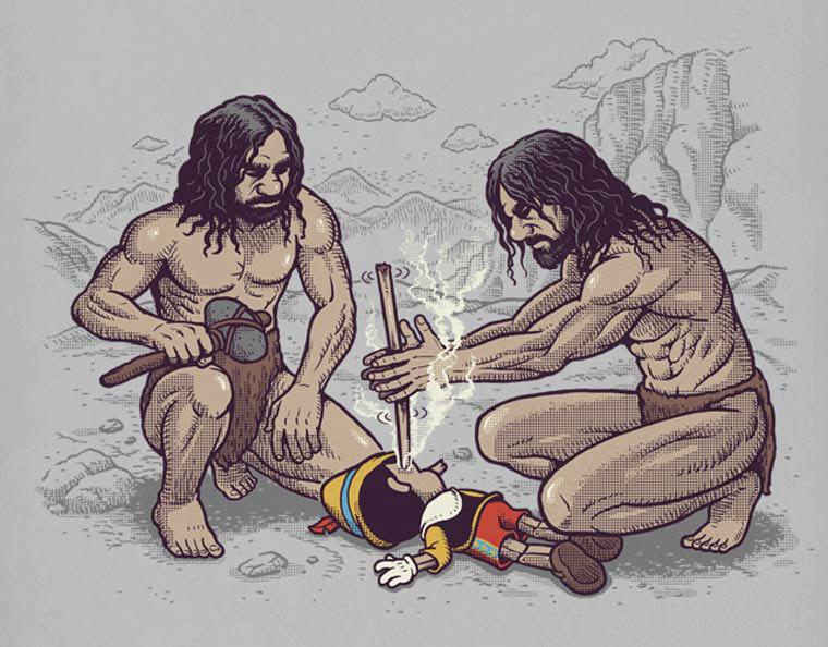 Humorísticas ilustraciones añaden giros inteligentes a la cultura pop