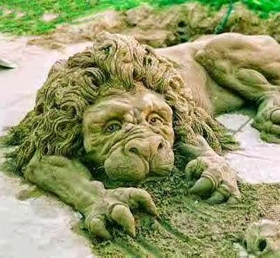 Sand Lion Sculpture