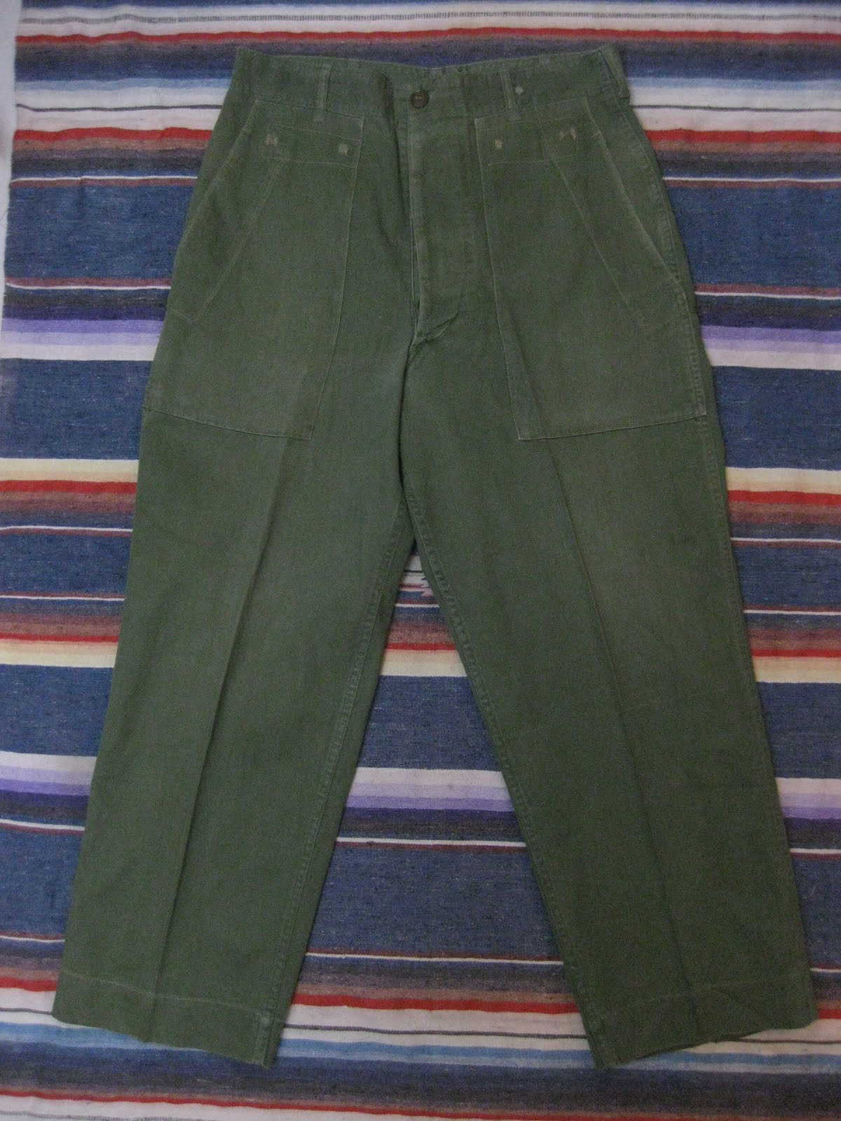 画像①                40's 「U.S.MARINE CORPS」               H.B.T. FATIGUE PANTS