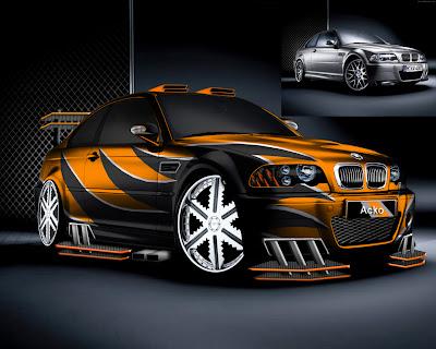 Orange Black Bmw wallpeper