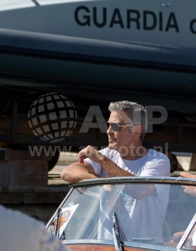 George Clooney arrives in Venice 24414928
