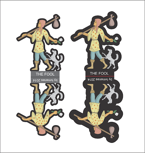 lvmenes paper miniature tarot the fool