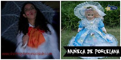 Disfraz casero muñeca de porcelana