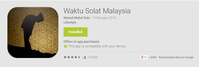 Apps Waktu Solat Malaysia