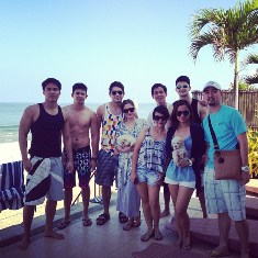 Gerald, Maja, Rayver, Jason, Fred and their friends in La Union