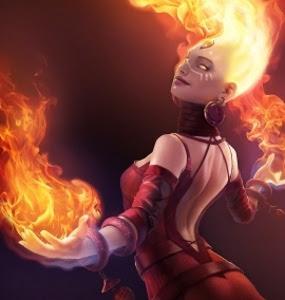 Karakter Cewek Mematikan di DoTA 2, Si Cantik Lina