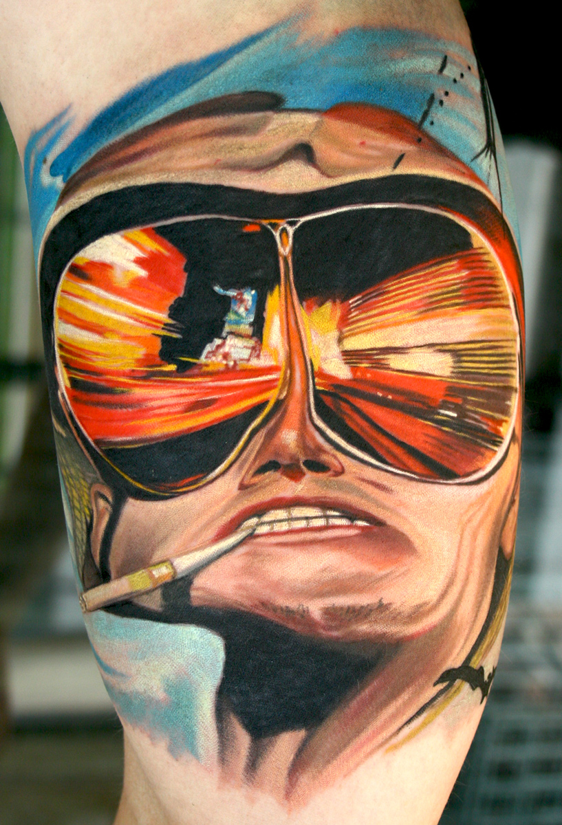 Fear and loathing in las vegas tattoo portrait by todo