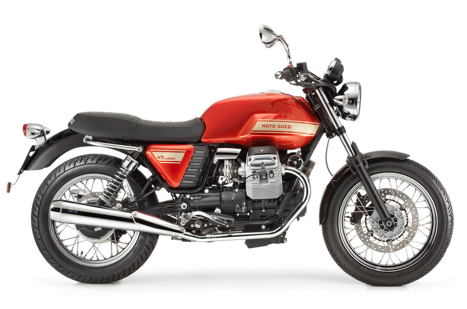 motorcycle pictures moto guzzi v7 classic 2011. Black Bedroom Furniture Sets. Home Design Ideas