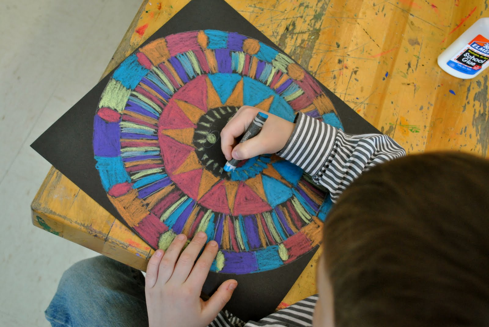 Aztec suns art projects from mn art gal for Paper art projects