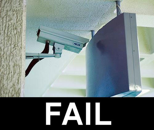 Security Camera Fail