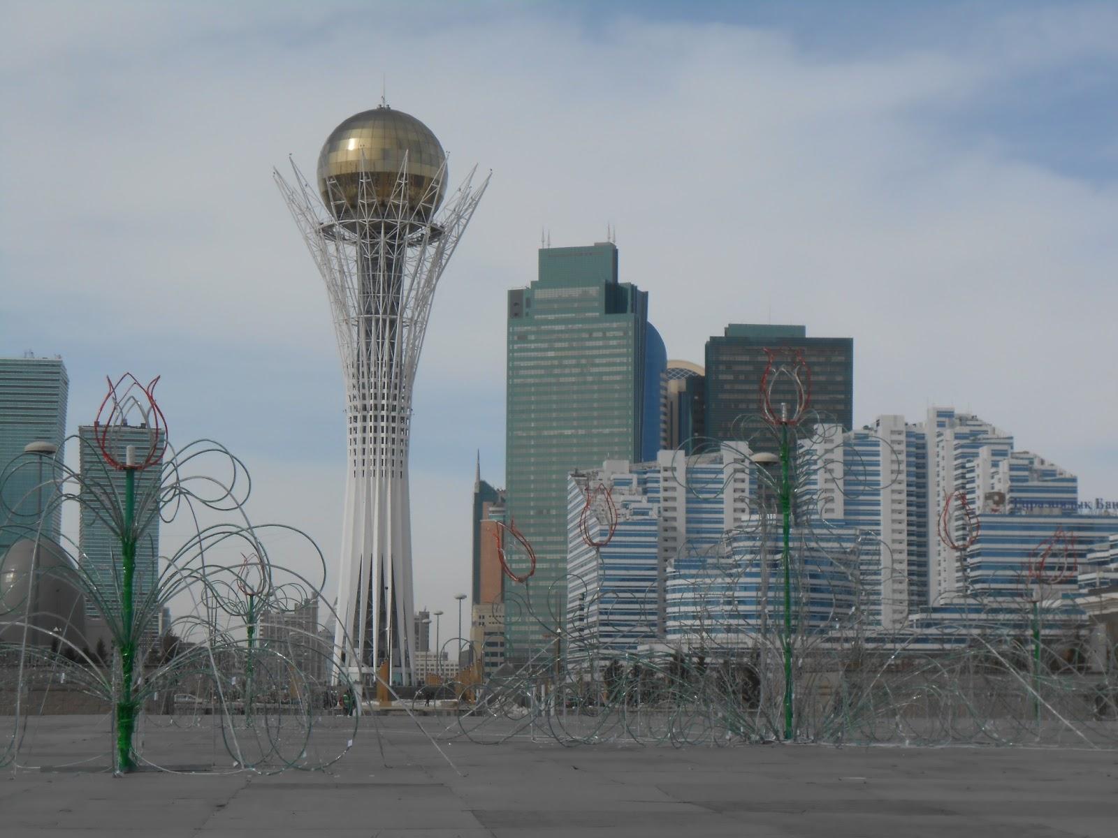 Astana Baiterek at Nauruz
