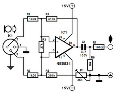 Microphone Preamplifier Circuit Diagram | Balanced Microphone Preamplifier Circuit Diagram Blog