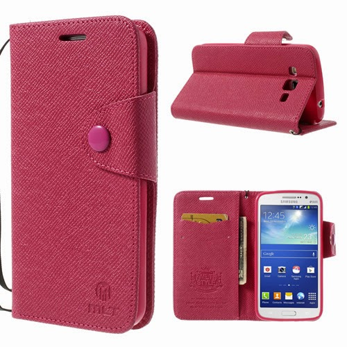 Leather-Case-Wallet-Samsung-Galaxy-Grand-2-Duos-MLT-Magenta