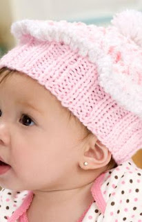 cupcake hat knit garter stitch knit baby confection knit baby