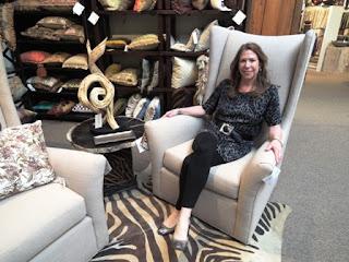 showroom, swivel chair, C.R. Laine, upholstery