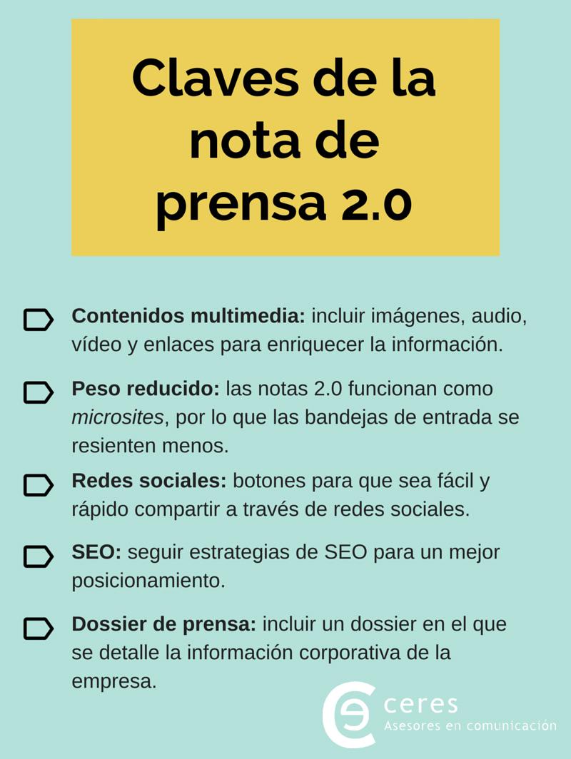 Ceres Comunicación: Cinco claves de la nota de prensa 2.0