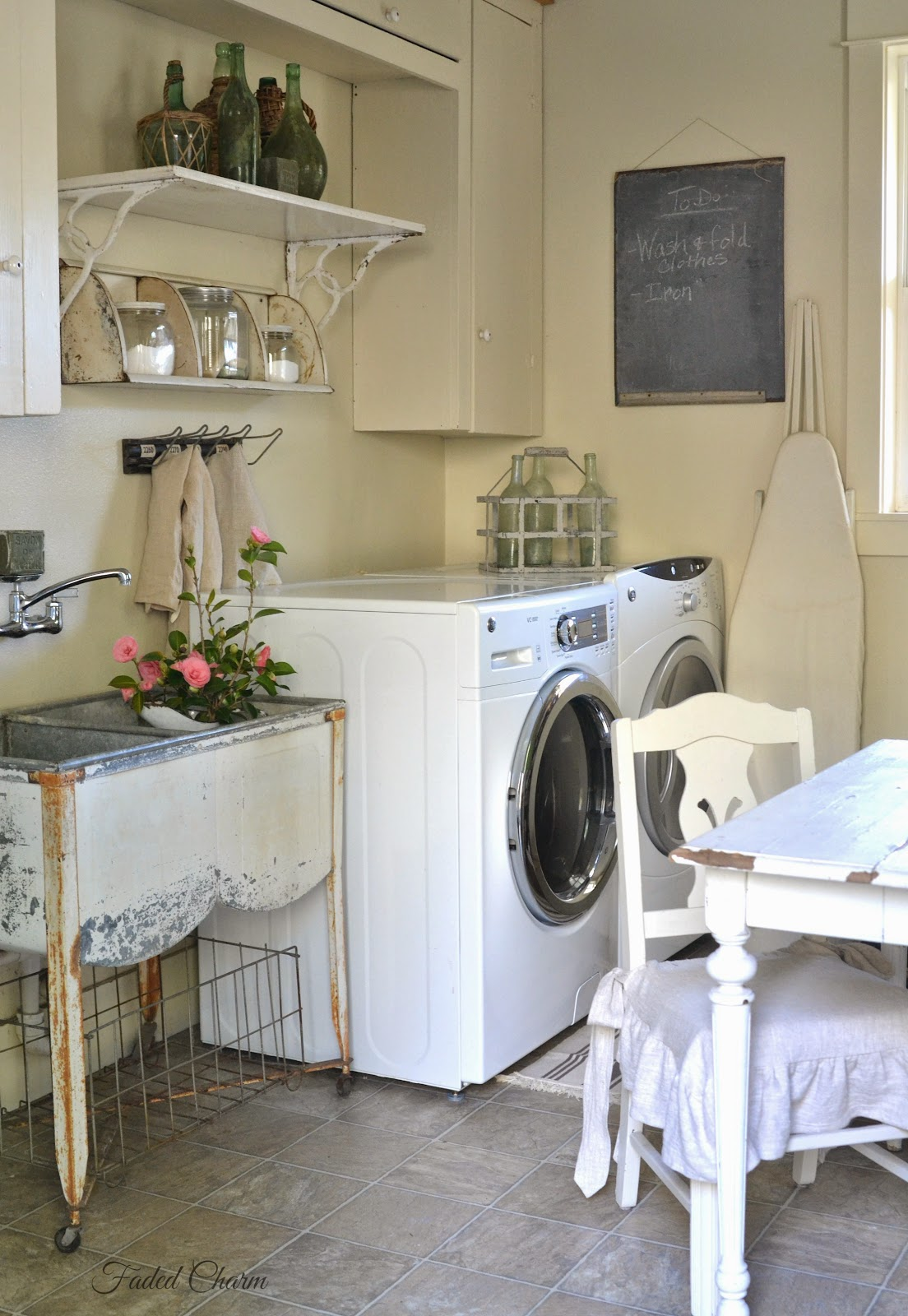 Faded Charm Laundry Room Essentials