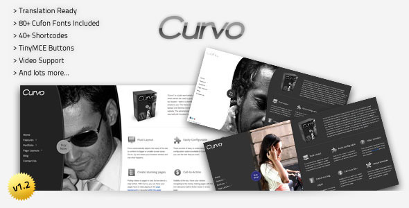 Curvo - Horizontal Premium Wordpress Theme Free Download by ThemeForest.