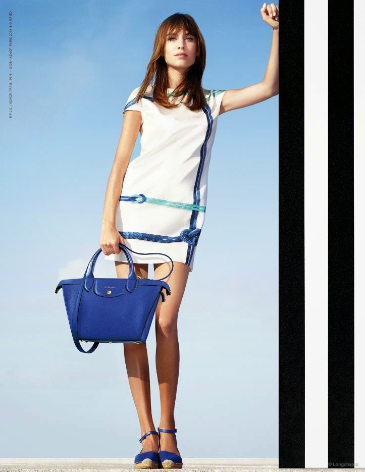 Alexa Chung stars for the Longchamp Spring/Summer 2015 Campaign