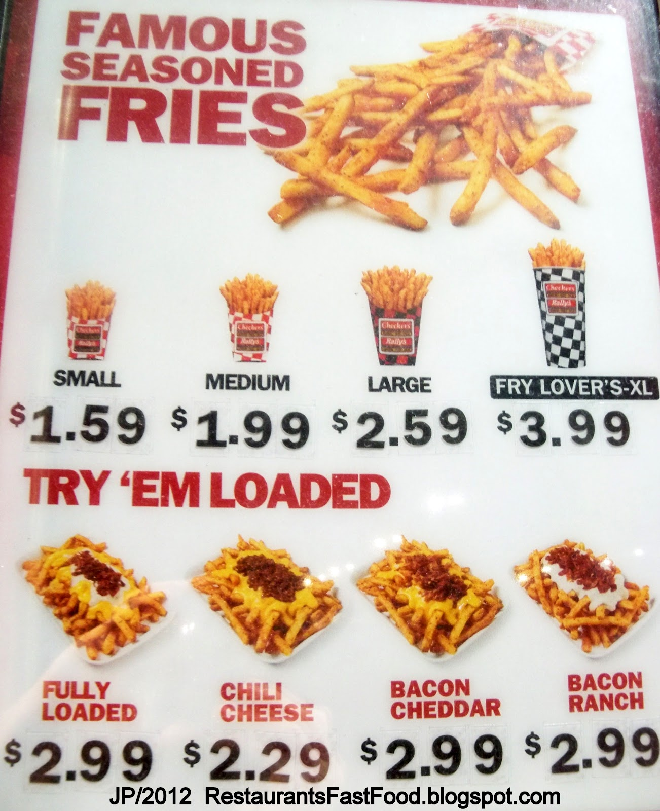 Checkers Fully Loaded Fries