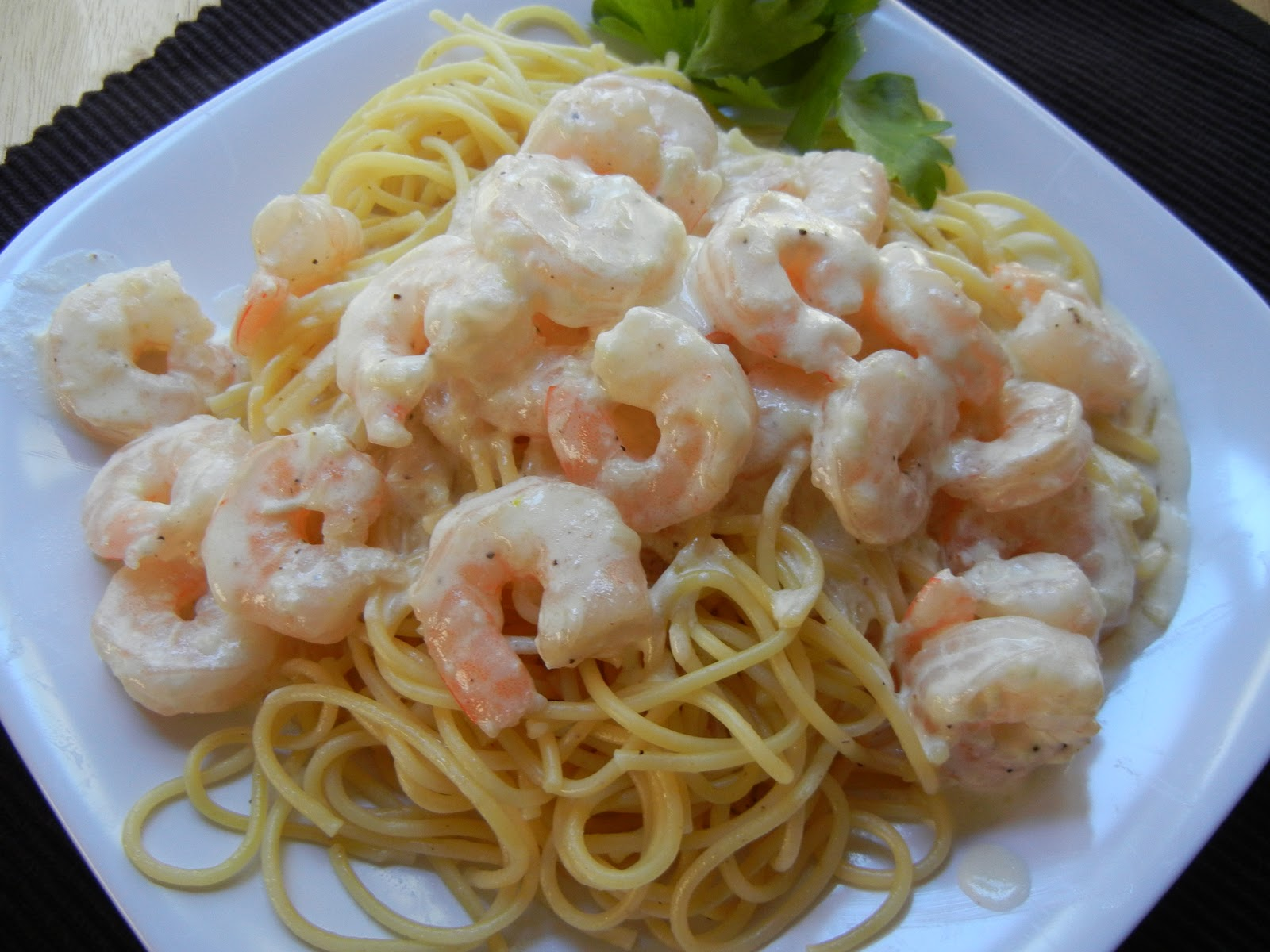 Gallery For > Shrimp Alfredo