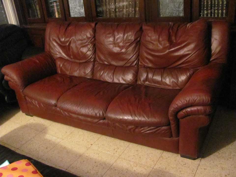 High Quality Sofa Is In Great Condition Except For One Slash On The Armrest. Armchair   800 Shekel. Sofa  1600 Shekel Or Both Together For 2100 Shekel!