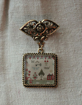 Antique Sampler Brooches!