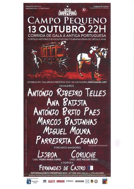 CAMPO PEQUENO - 13 DE OUTUBRO
