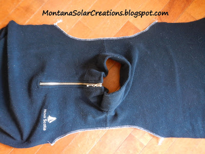 how to make a baby sleep sack from a sweatshirt or sweater