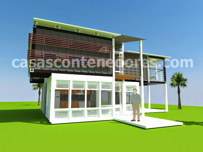 Casas contenedores proyecto de casa contenedor con - Contenedores para casa ...
