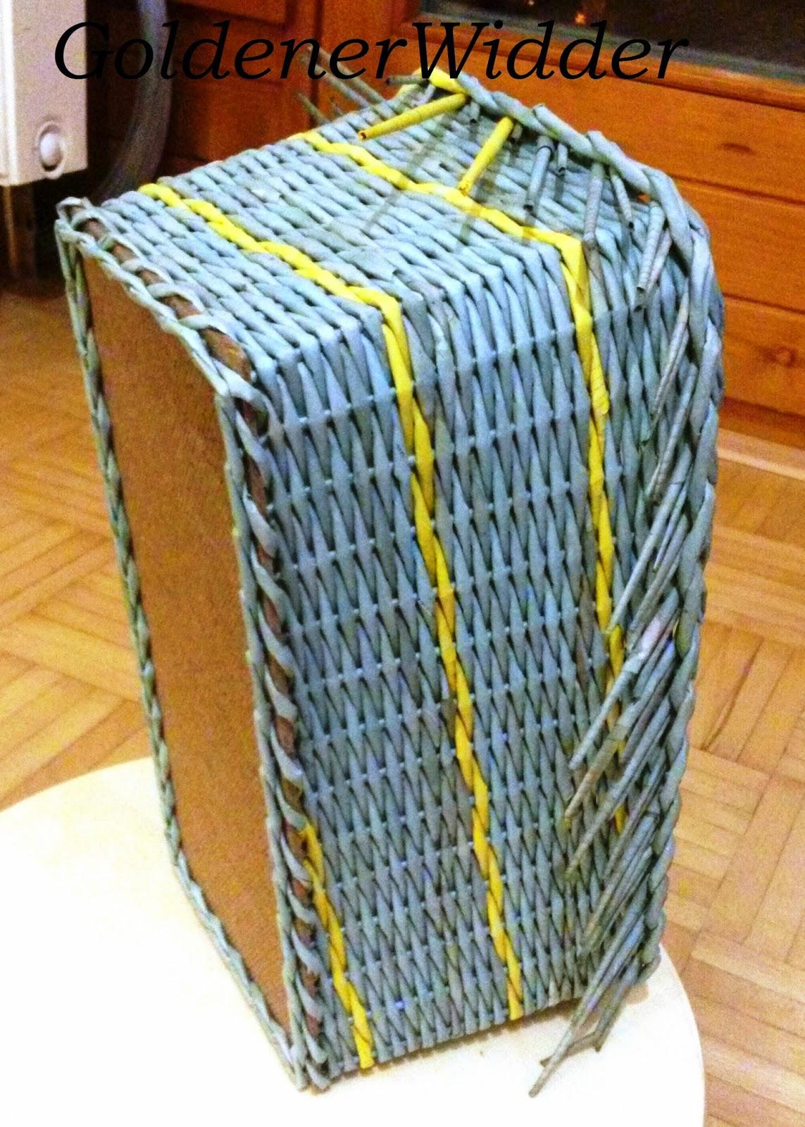 Короба из газетных трубочек мастер класс с пошаговым фото