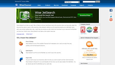 Wise JetSearch, File and Hard Disk