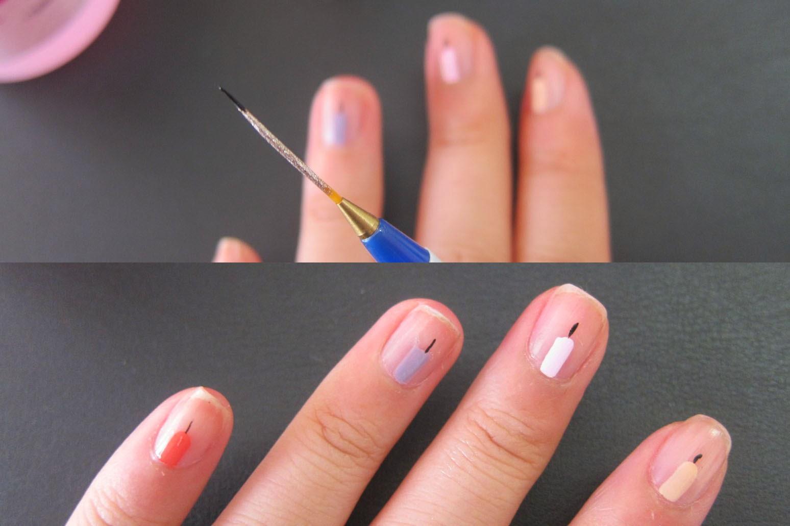 Geometric Nail Art...